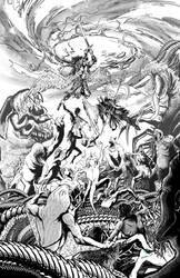 Josh Black 7 cover inks by hobzart