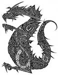 Tribal dragon by J2040