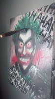 Joker painting one of three by J2040