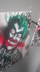 Joker painting two of three by J2040
