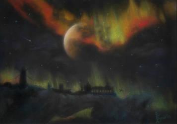 Skyrim: Night in Solitude by MadEvilLydia