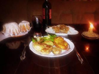 Dinner in Skyrim Style by MadEvilLydia