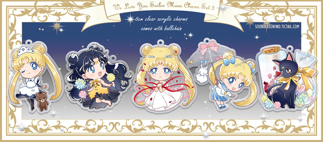 Sailor Moon Charm Set 2 by Kaze-Hime
