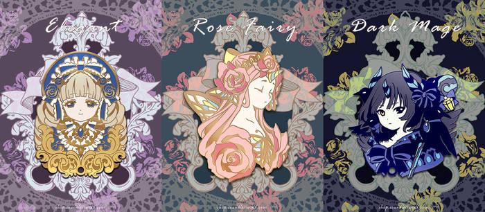 Original Pins Series vol 1 by Kaze-Hime