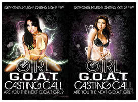 .Advert Flyers G.O.A.T. Girl by TheSpinxSage