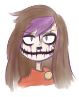 RpgMinx Skull Face paint by RejectedSG