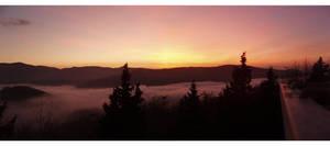 Sunset panorama by lotus82