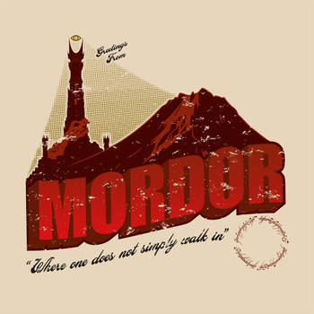 Greetings from Mordor by LiquidSoulDesign