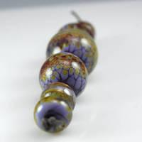 Lavender Raku Spheres by ellyloo