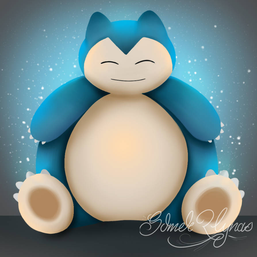 Snorlax (Quick Painting) by ArtiSom