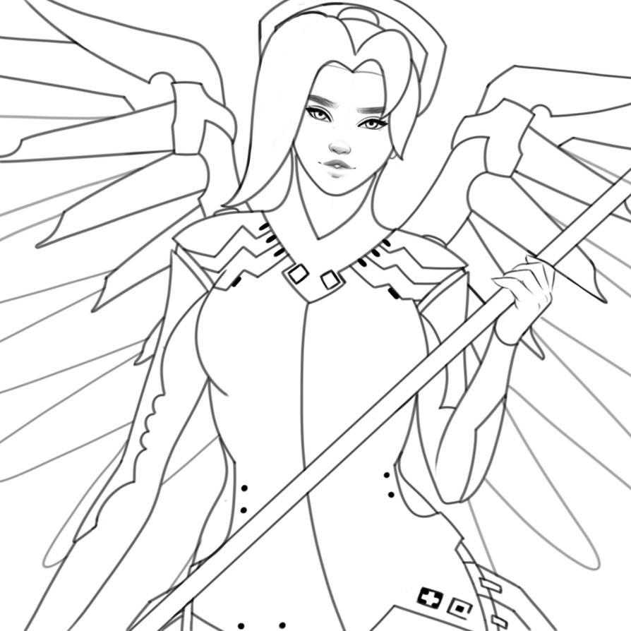 Mercy (Progress Linework) by ArtiSom