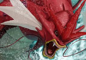 Red Megagarados by dekunobou-kizakura