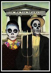 American Gothic--Dia de Los Muertos.Halloween by lousephyr