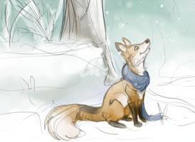Fox Snow by Felix-Vulpes