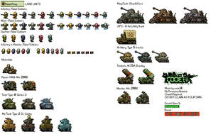Advance Wars: Rebel Army Land Units by code14