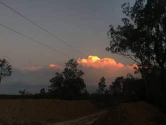 Storm cloud with sunset glow 2  by Cloudy-0w0