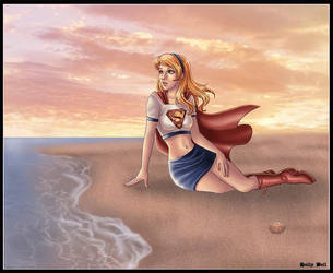 Supergirl - Beach Day by kclcmdr