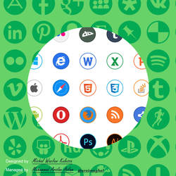 Circle Icons Colored. High Resolutions PNGs by arximughal
