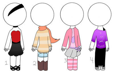 Outfit Adopts #1 by EmikoEV
