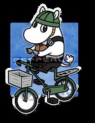 [FA:Moomin/OnePunchMan] Moomin Rider by Pepperly