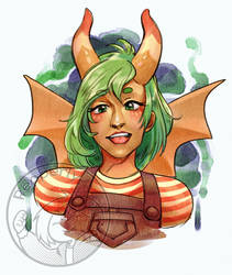 [Artfight] Eleanor - cactuslilly by Pepperly