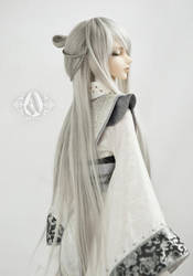 silver long chinese ancient wig is the point by Angell-studio