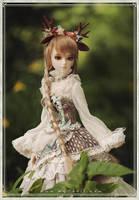deer girl---Lan by Angell-studio