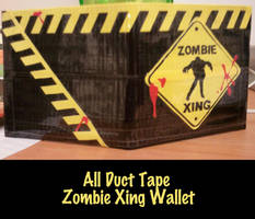 Duct Tape Zombie Xing Wallet by thejenty