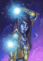 Yunea, the draenei mage by PetraImboden