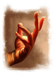 Speedpainting: Hand I by PetraImboden