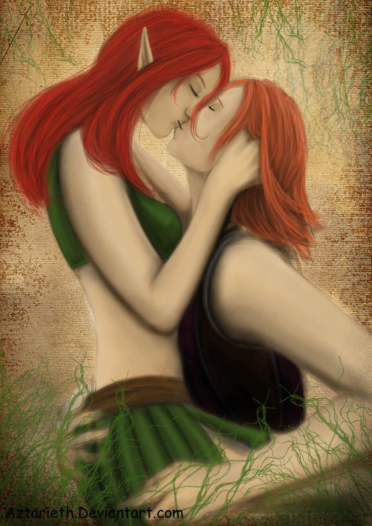 Leliana and Nelerah Love by Aztarieth