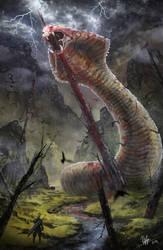 Final Fantasy VII - The impaled Midgar Zolom by RobinTran