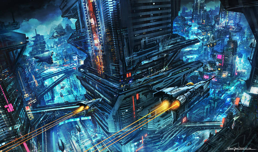 Scifi Night City by RobinTran
