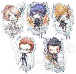Final Fantasy XV Chibi by StarMasayume