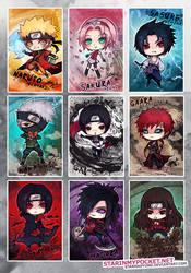 Naruto Chibi Set by StarMasayume