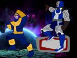 Darkseid vs Thanos by RedPegasus237
