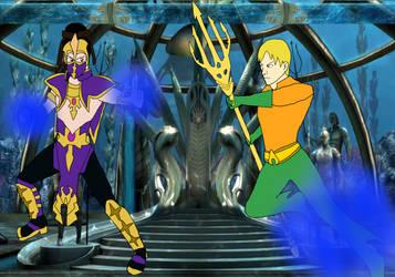 Rain vs Aquaman by RedPegasus237