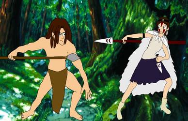 Tarzan vs Princess Mononoke by RedPegasus237