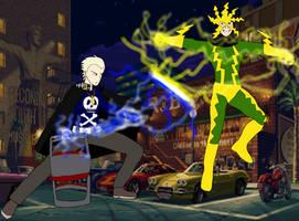 Kanji Tatsumi vs Electro by RedPegasus237