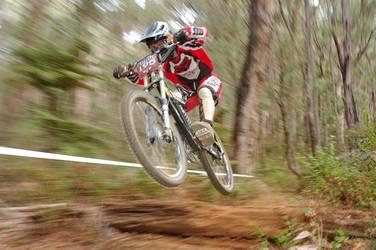 Downhill bike racer by litecreations