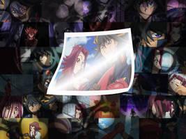 Yusei and Aki wallpaper by worldstraveller