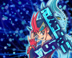 Yuma and Astral wallpaper by worldstraveller