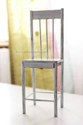Miniature Shabby Chair (+DIY) by thinkpastel