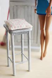 Miniature Shabby Barstool (+DIY) by thinkpastel