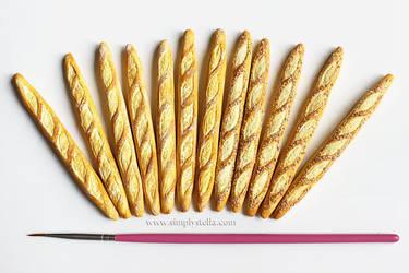 Miniature Baguettes (+DIY) by thinkpastel