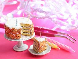 Miniature Birthday Cookie Cake by thinkpastel