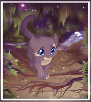 forest-kitty by VixieArts