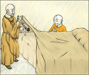 Aang and Gyatso Mischief by lilfirebender