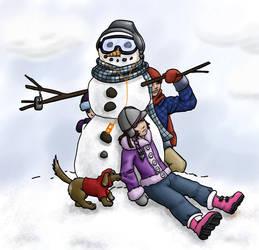 Snowmen are Cool by lilfirebender