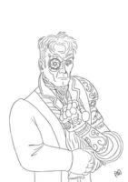Steamborg Lineart. by MauricioEiji